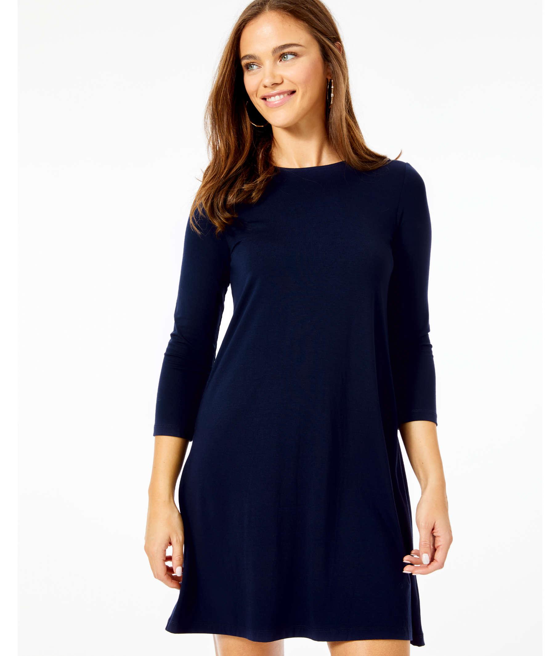 b3d118a98b3f3e ... Ophelia Swing Dress, Midnight Navy, large ...