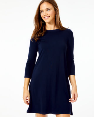 Ophelia Swing Dress, Midnight Navy, large 0