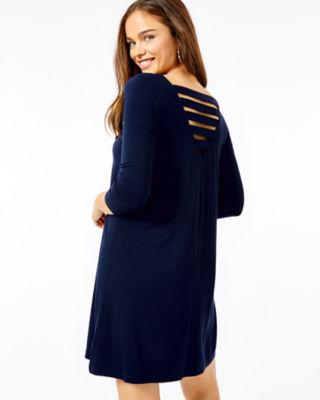 Ophelia Swing Dress, Midnight Navy, large 1