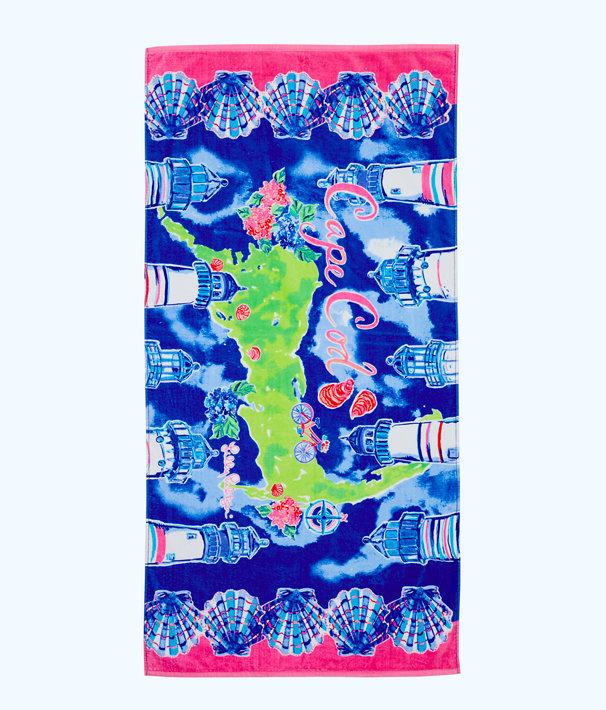 Destination Beach Towel, Multi Destination Cape Cod Towel, large