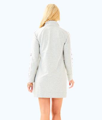 Skipper Solid Popover Dress, Heathered Seaside Grey, large