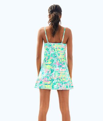 UPF 50+ Meryl Nylon Luxletic Adelia Tennis Dress, Multi Perfect Match, large 1