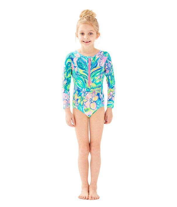 4399239c32db6 UPF 50+ Girls Alaina Swimsuit | 29147 | Lilly Pulitzer