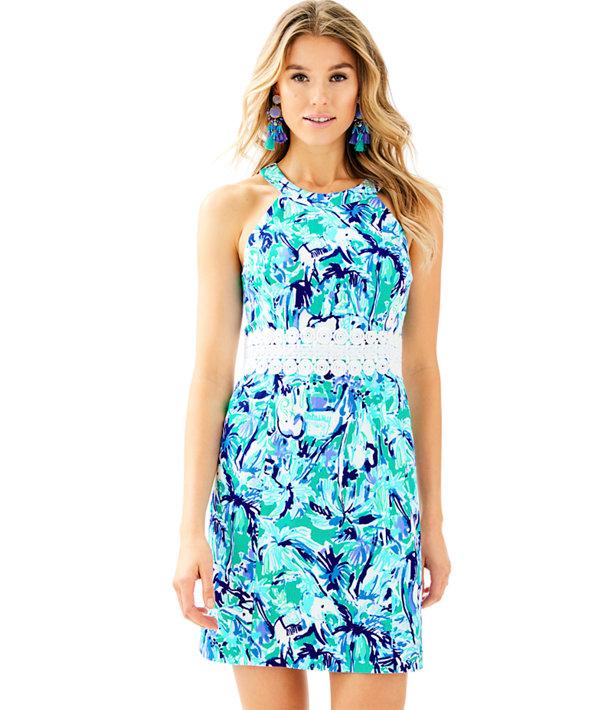 53b4a02c2b4017 Ashlyn Shift Dress, Tropical Turquoise Elephant Appeal, large
