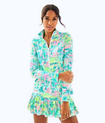 UPF 50+ Meryl Nylon Luxletic Hadlee Tennis Jacket, Multi Perfect Match, large