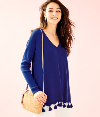 Martine Sweater, Royal Purple, large