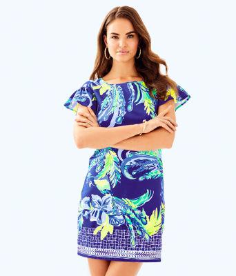 Marah Dress, Twilight Blue Nest To Nothing Engineered Dress, large