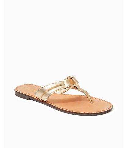 McKim Sandal, Gold Metallic, large 0
