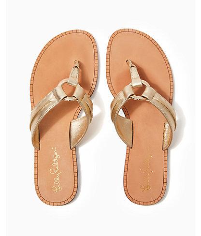 McKim Sandal, Gold Metallic, large 1