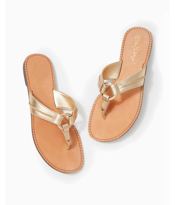 McKim Sandal, Gold Metallic, large