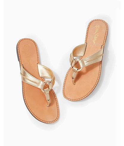 McKim Sandal, Gold Metallic, large 2