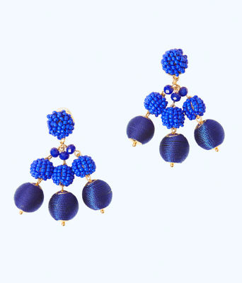 Salsa Copa Clip On Earring, Bright Navy, large