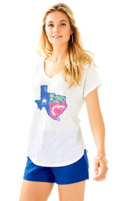 Colie Top, Multi Lilly Loves Texas Graphic, large