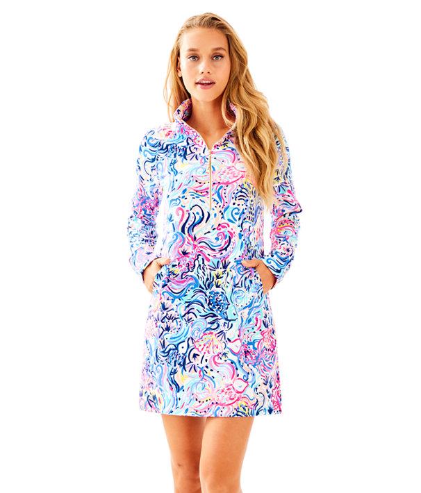 9fcea0bffc7fba UPF 50+ Skipper Printed Popover Dress | 30458 | Lilly Pulitzer