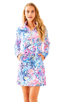 UPF 50+ Skipper Printed Popover Dress, , large