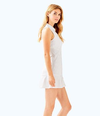UPF 50+ Luxletic Martina Tennis Dress, Resort White Perfect Match Jacquard, large 2