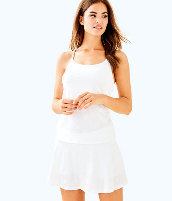 UPF 50+ Luxletic Aila Skort, Resort White Perfect Match Jacquard, large