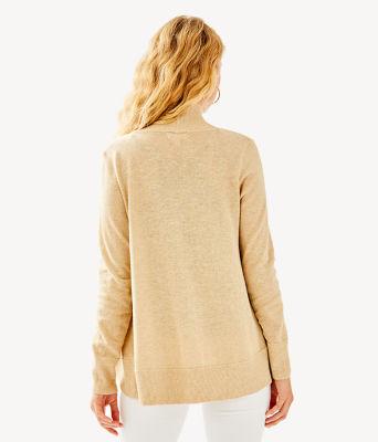 Amalie Cardigan, Heathered Camel Metallic, large
