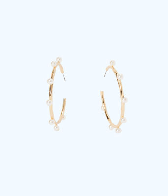 Gemma Hoop Earrings, Resort White, large