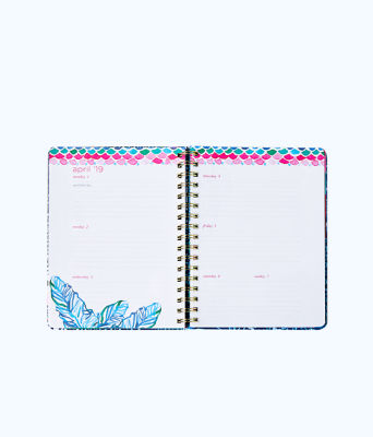 2018 - 2019 17 Month Large Agenda, Multi Party Wave Planner, large