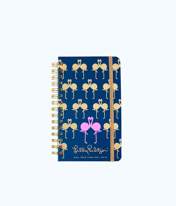 330b9a650ce4a4 2018 - 2019 17 Month Medium Agenda, Nauti Navy Flamingo Planner, large