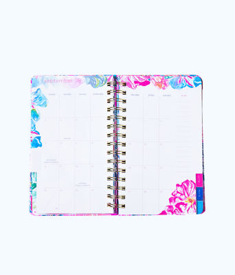 2019 12 Month Large Monthly Agenda, Deep Indigo Seaglass Menagerie Planner, large 3