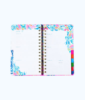 2019 12 Month Large Monthly Agenda, Deep Indigo Seaglass Menagerie Planner, large 4