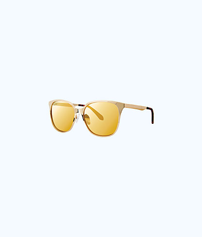 Landon Sunglasses, Gold Metallic, large 0