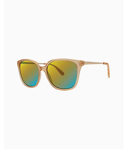 Haylee Sunglasses, Matte Crystal Gold, large 0