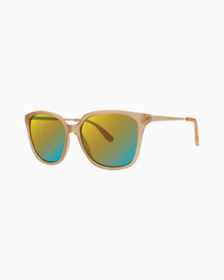 Haylee Sunglass, Matte Crystal Gold, large 0