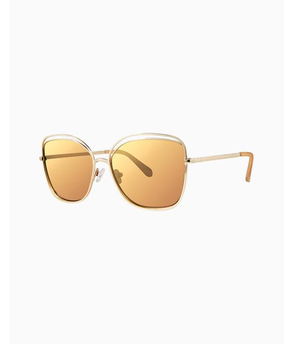 Nina Sunglasses, Gold Metallic, large