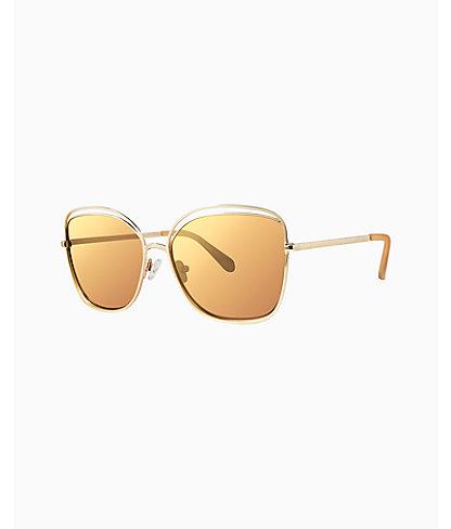 Nina Sunglasses, Gold Metallic, large 0
