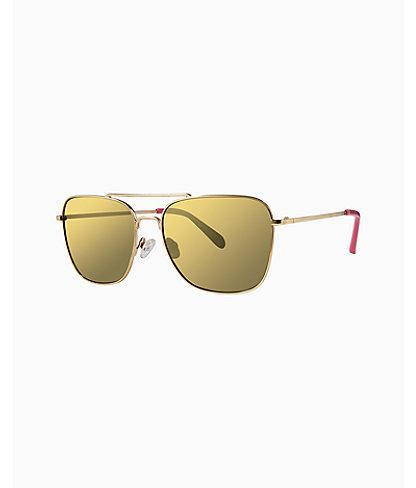 Kate Sunglasses, Gold Metallic, large 0