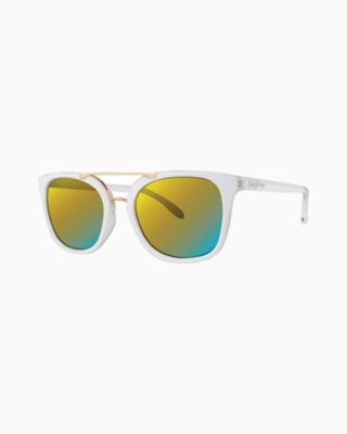 Emilia Sunglass, Resort White, large