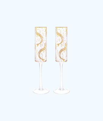 Champagne Glass Set, Multi Mermaids Cove, large 0