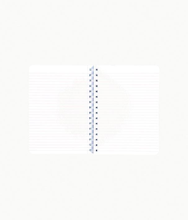 Mini Notebook, Blue Peri Turtley Awesome, large