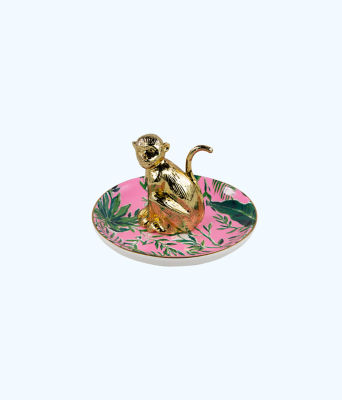 Ring Holder, Coral Reef Tint Chimpoiserie, large
