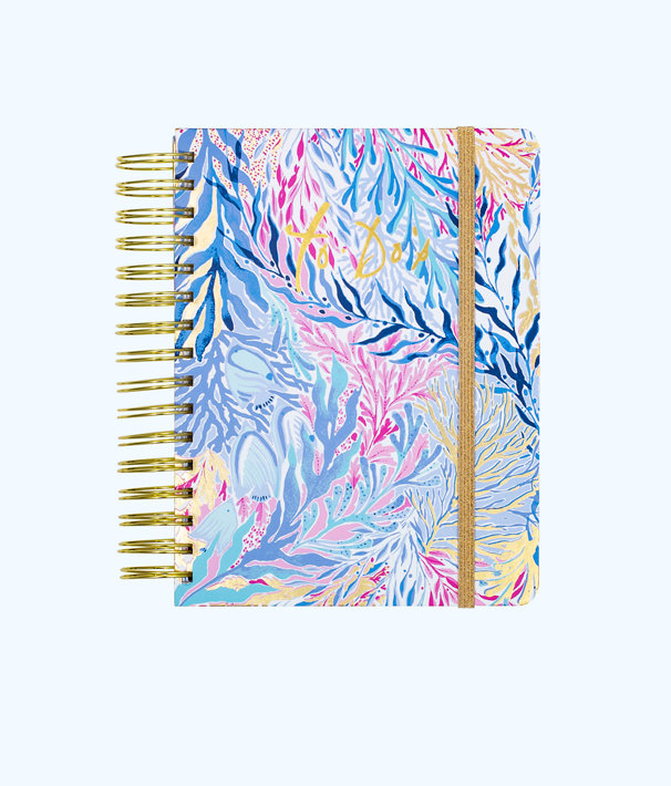 To Do Planner, Crew Blue Tint Kaleidoscope Coral, large