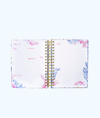 To Do Planner, Crew Blue Tint Kaleidoscope Coral, large 1