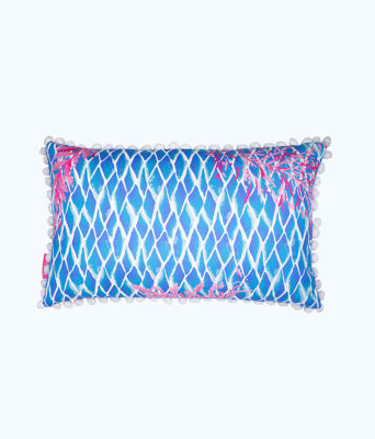 Medium Pillow, Crew Blue Tint Kaleidoscope Coral, large 1