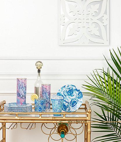Hi-Ball Glass Set, Crew Blue Tint Kaleidoscope Coral, large 2