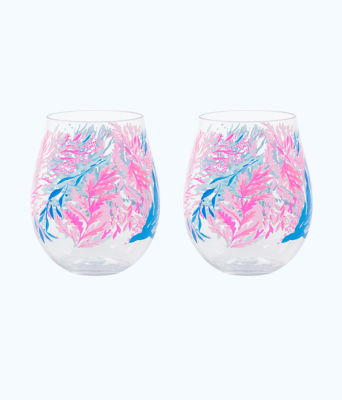 Acrylic Wine Glasses Set, , large