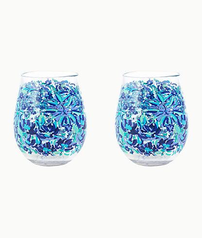 Acrylic Wine Glass Set, Iris Blue High Manetenance, large 0