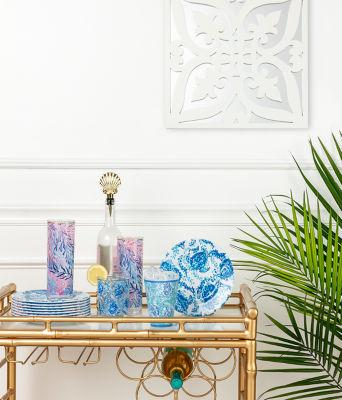 Melamine Plates Set, Blue Peri Turtley Awesome, large