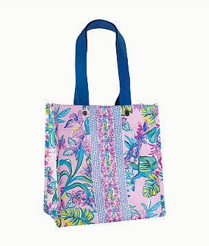 Market Shopper Tote, Amethyst Tint Mermaid In The Shade, large