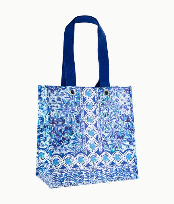 Market Shopper Tote, Iris Blue High Manetenance, large