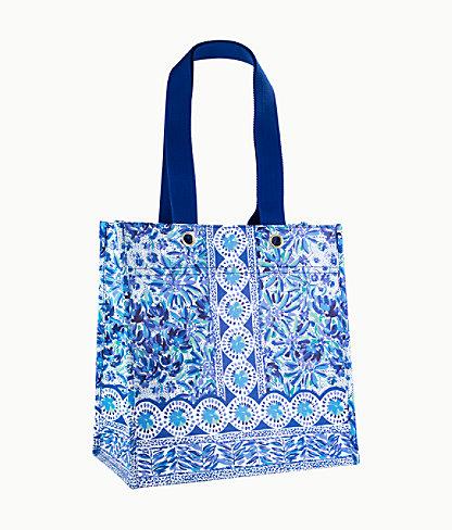 Market Shopper Tote, Iris Blue High Manetenance, large 0