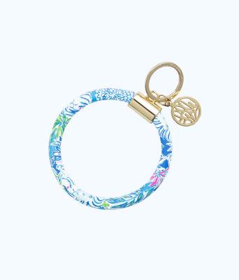 Round Key Chain, Coastal Blue Lion Around, large