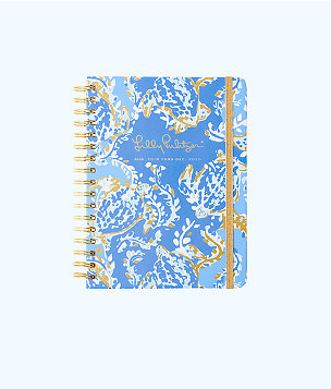 2019-2020 Large Agenda - 17 Month, Blue Peri Turtley Awesome, large