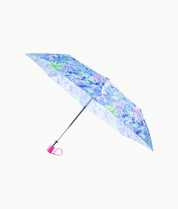 Travel Umbrella, Coastal Blue Lion Around, large